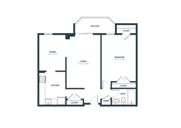 Trillium One Bedroom apartment home in Fairfax, VA