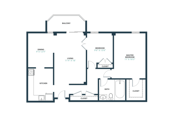 Trillium Two Bedroom apartment home in Fairfax, VA