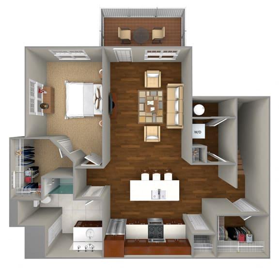 Floor Plan  1 Bedrrom/1 Bath (944 sf) floor plan at Cedar Place Apartments, Wisconsin, 53012