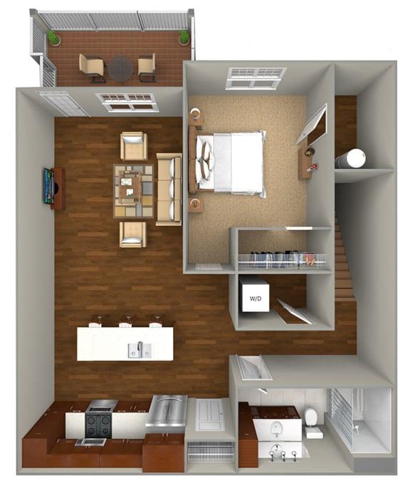 Floor Plan  1 Bedroom/1 Bath (850 sf) Floor Plan at Cedar Place Apartments, Cedarburg, 53012