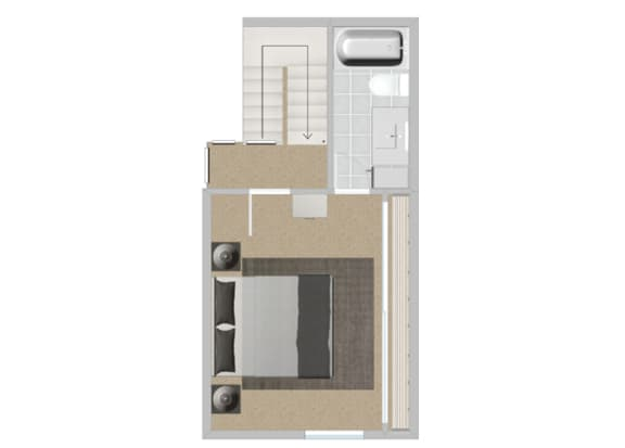 Eucalyptus Reno bedroom at Solterra at Civic Center, Norwalk
