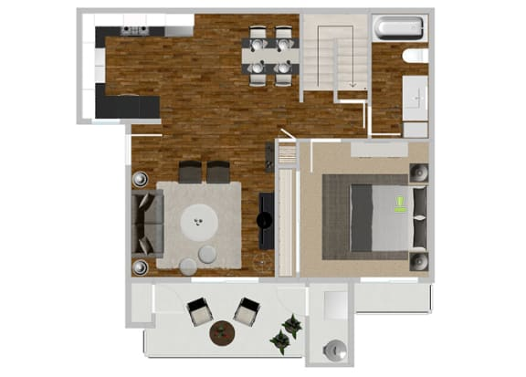 Eucalyptus Updated 2 bedroom 2 bath at Solterra at Civic Center, Norwalk, CA, 90650