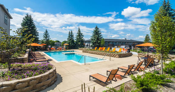 Resort Style Swimming Pool at Axis at Westmont, Illinois