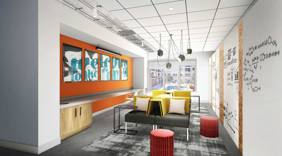 Cyber Lounge at Link Apartments Innovation Quarter, North Carolina, 27101