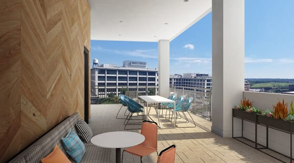 Rooftop Terrace at Link Apartments Innovation Quarter, Winston-Salem, NC, 27101