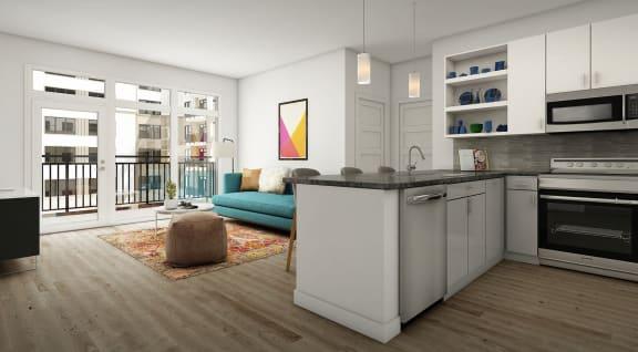 Modern Interior Designs at Link Apartments Innovation Quarter, Winston-Salem, NC