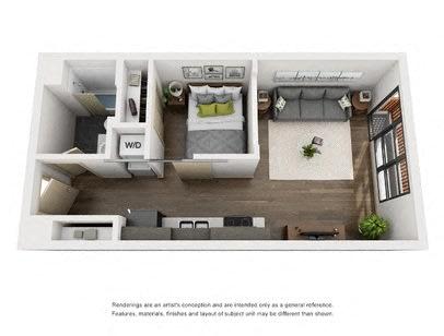 Floor Plan  1 Bed A