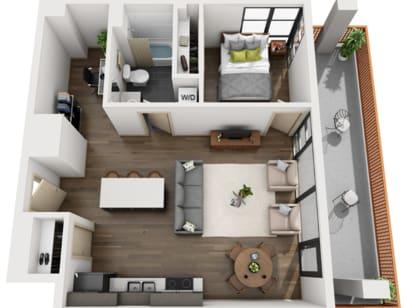 Floor Plan  1-5 Bed D