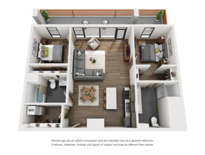 Floor Plan  2 Bed E