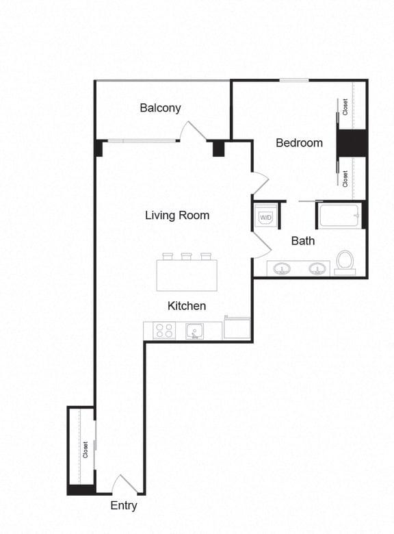 Floor Plan  Couch9FP_B15_1b1b_840sf