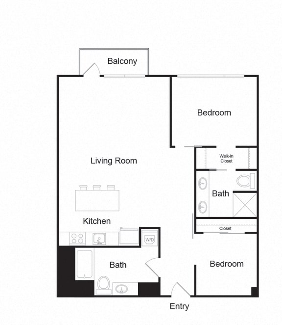 Floor Plan  Couch9FP_C_2b2b_1021sf