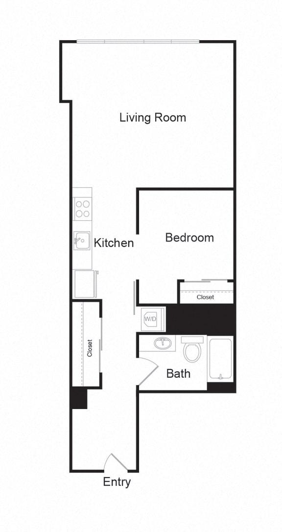 Floor Plan  Couch9FP_G_1b1b_736sf