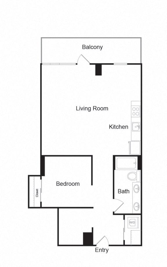 Floor Plan  Couch9FP_I_1b1b_901sf