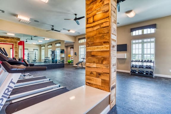 Cardio Machines In Gym, at Carroll at Rivery Ranch, Georgetown, TX 78628