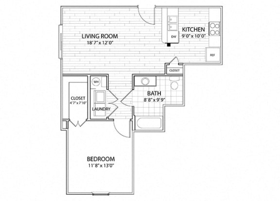 Mesa | 1 Bedroom 1 Bath Apartment