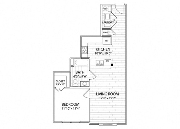 Crest | 1 Bedroom 1 Bath Apartment