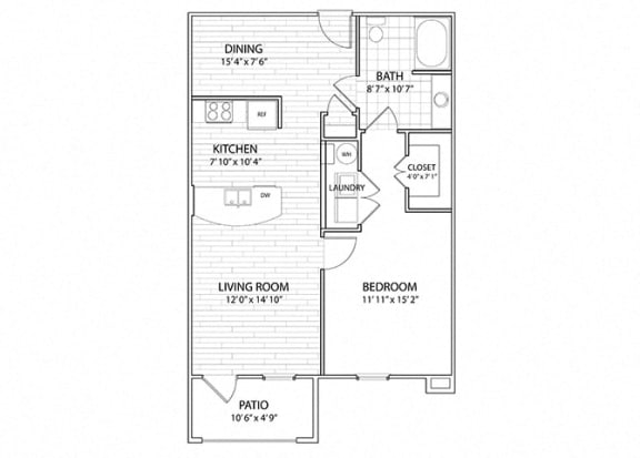 Summit | 1 Bedroom 1 Bath Apartment