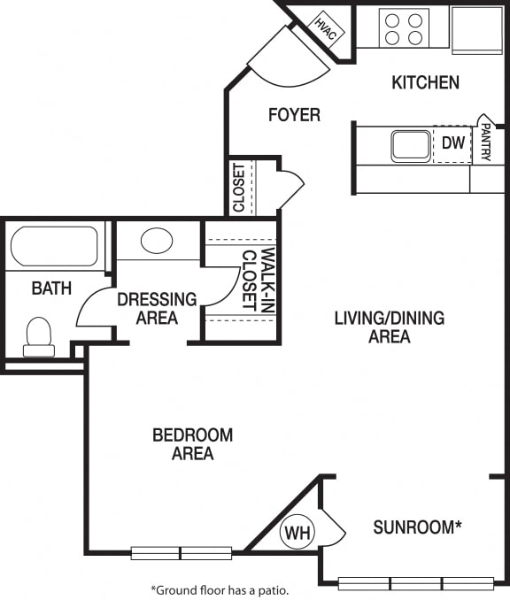 Floor Plan  Studio Renovated