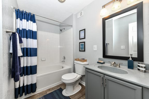 Luxurious Bathrooms, at Crestmark Apartment Homes, Georgia, 30122