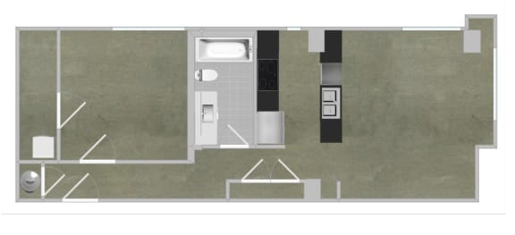 Floor Plan  1 BEDROOM/1 BATH - A6