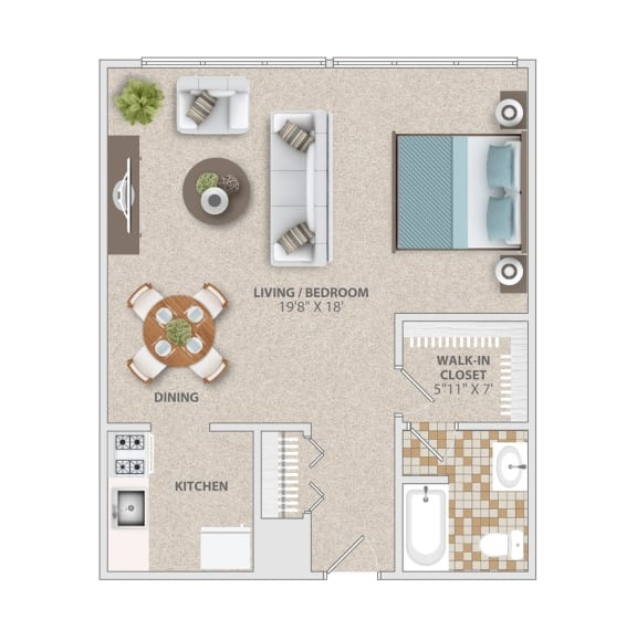 Studio apartment home at Broadfalls