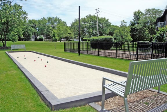 Bocce Ball Court at The Clayson, Illinois