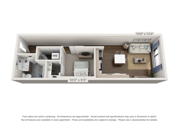 Floor Plan  large one bedroom floor plan option for denver