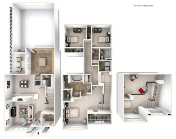 Floor Plan  Appaloosa 3x2.5 Floor Plan at Caviata at Kiley Ranch, Sparks, NV