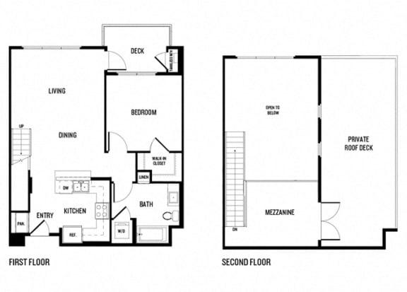 Floor Plan  One bedroom One bathroom 1