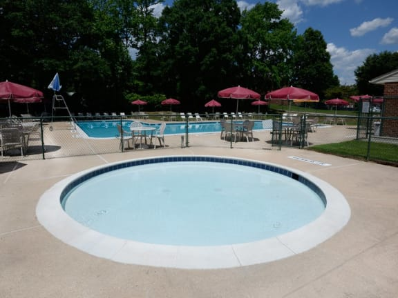 Kiddie pool at Windsor House Apartments in Baltimore MD