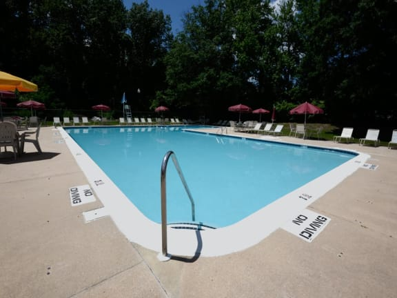 Large private pool at Windsor House Apartments in Baltimore MD