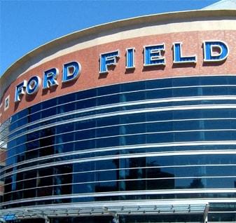 Ford Field entrance in Detroit MI