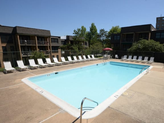Private swimming pool at Ivy Hall Apartments
