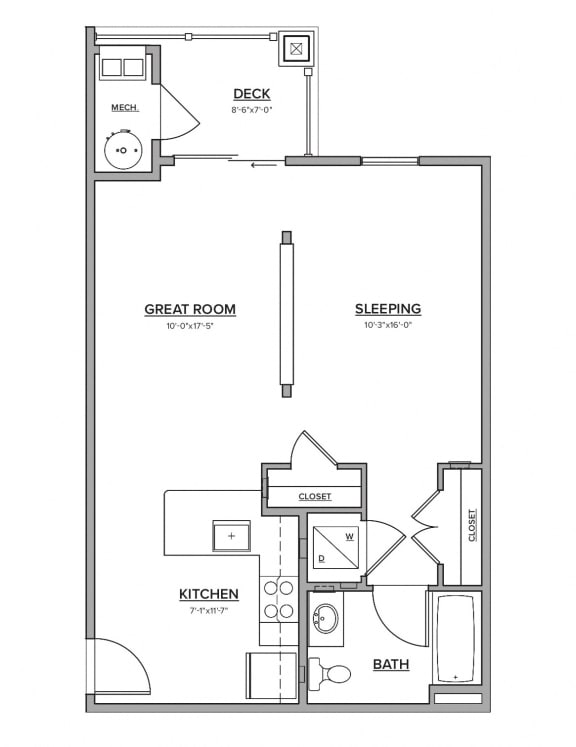 The Preserve at Great Pond Studio Apartment Home - A
