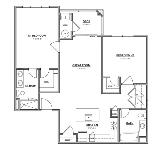 The Preserve at Great Pond Two Bedroom Apartment Home - E