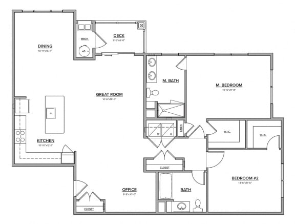 The Preserve at Great Pond Two Bedroom Apartment Home - F