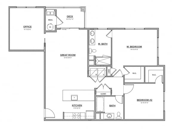The Preserve at Great Pond Three Bedroom Apartment Home - G
