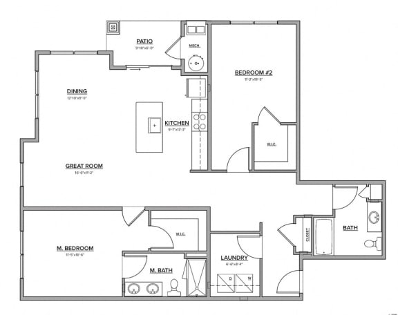 The Preserve at Great Pond Two Bedroom Apartment Home - O