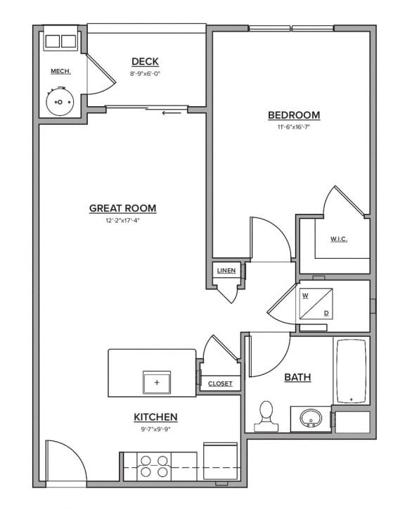 The Preserve at Great Pond One Bedroom Apartment Home - Q