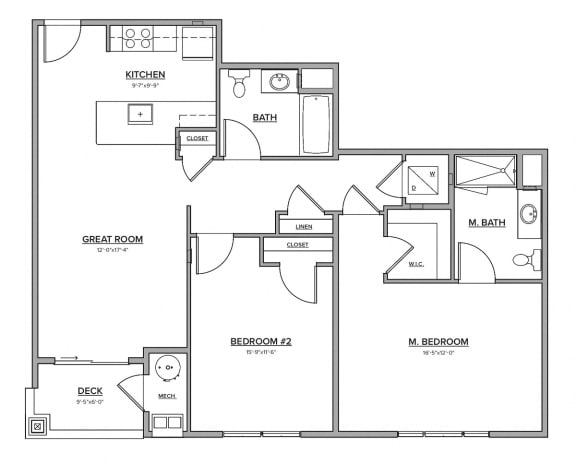 The Preserve at Great Pond Two Bedroom Apartment Home - R