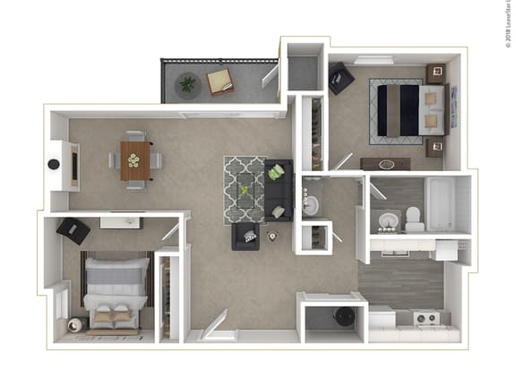 Clover Creek - Floor Plan - 2Bedroom