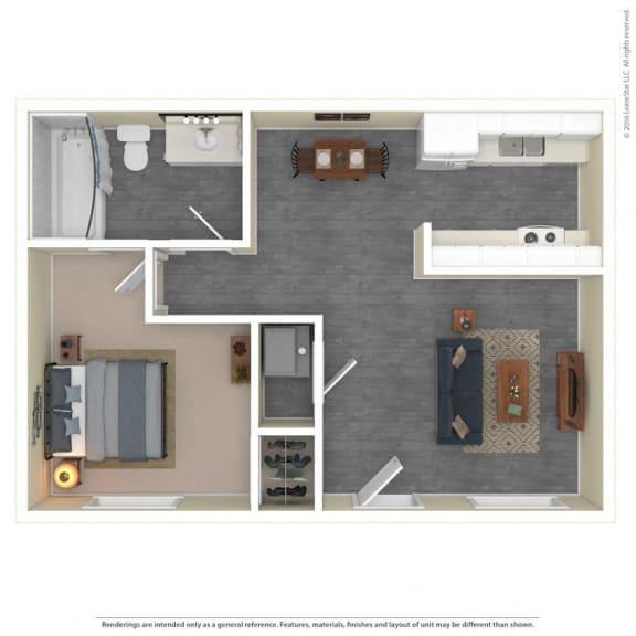 The Grove Apartments Floor Plan Model1A