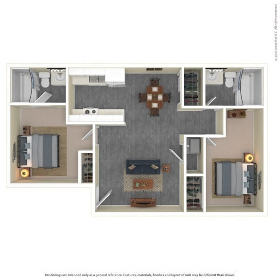The Grove Apartments Floor Plan Model2B