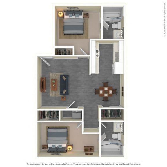 The Grove Apartments Floor Plan Model2C