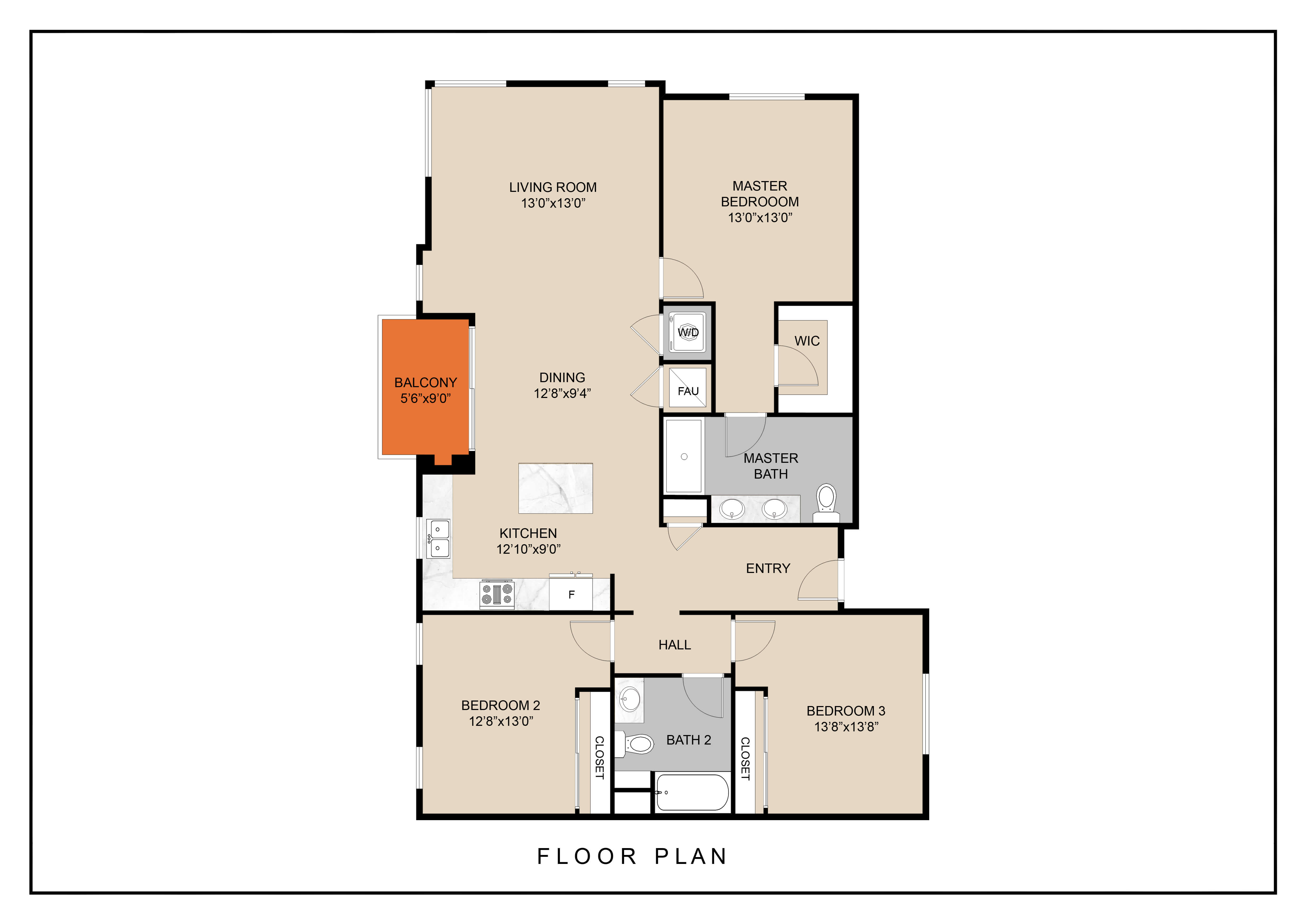 Floor Plan  unit a floor plan