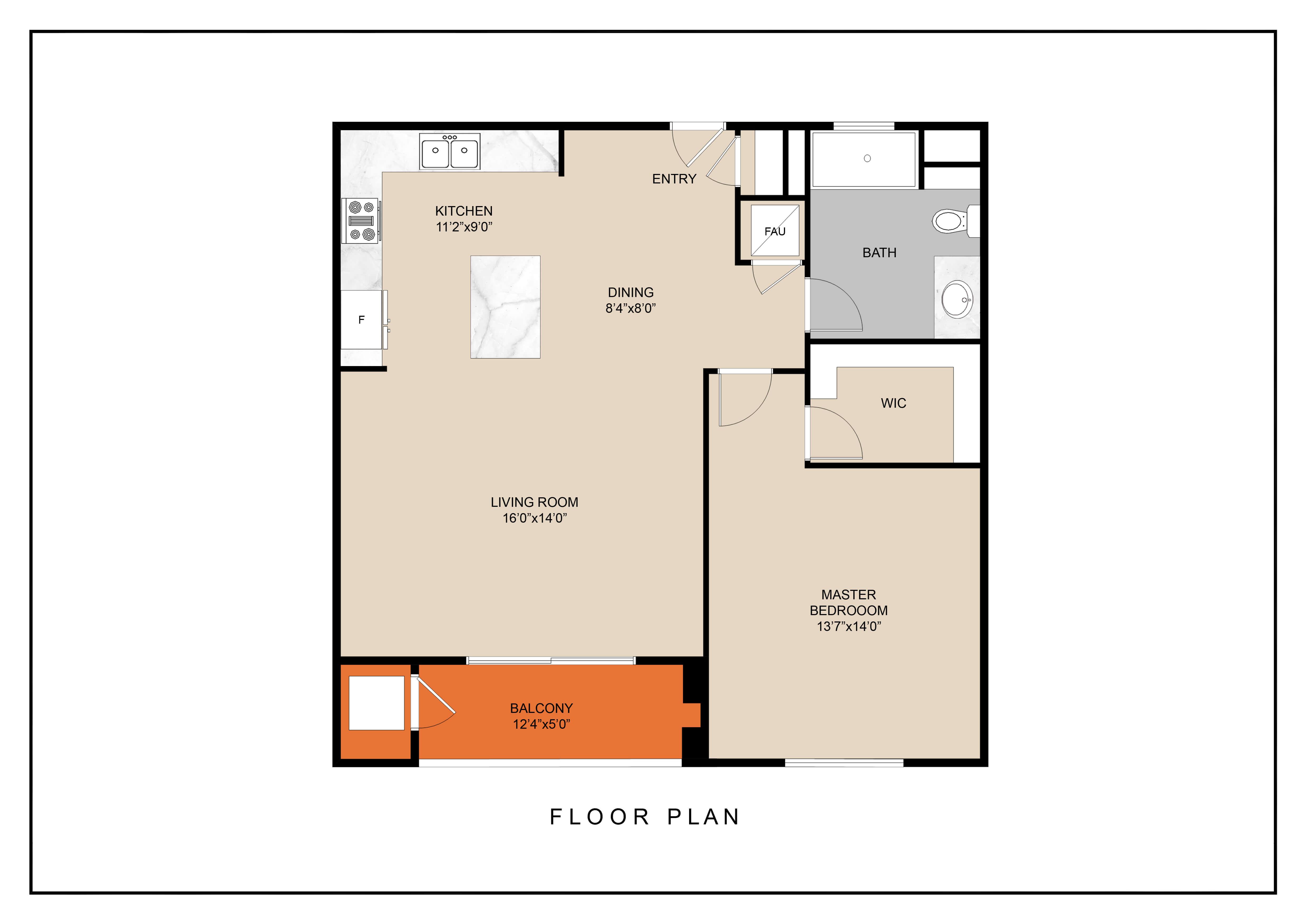 Floor Plan  unit c floor plan
