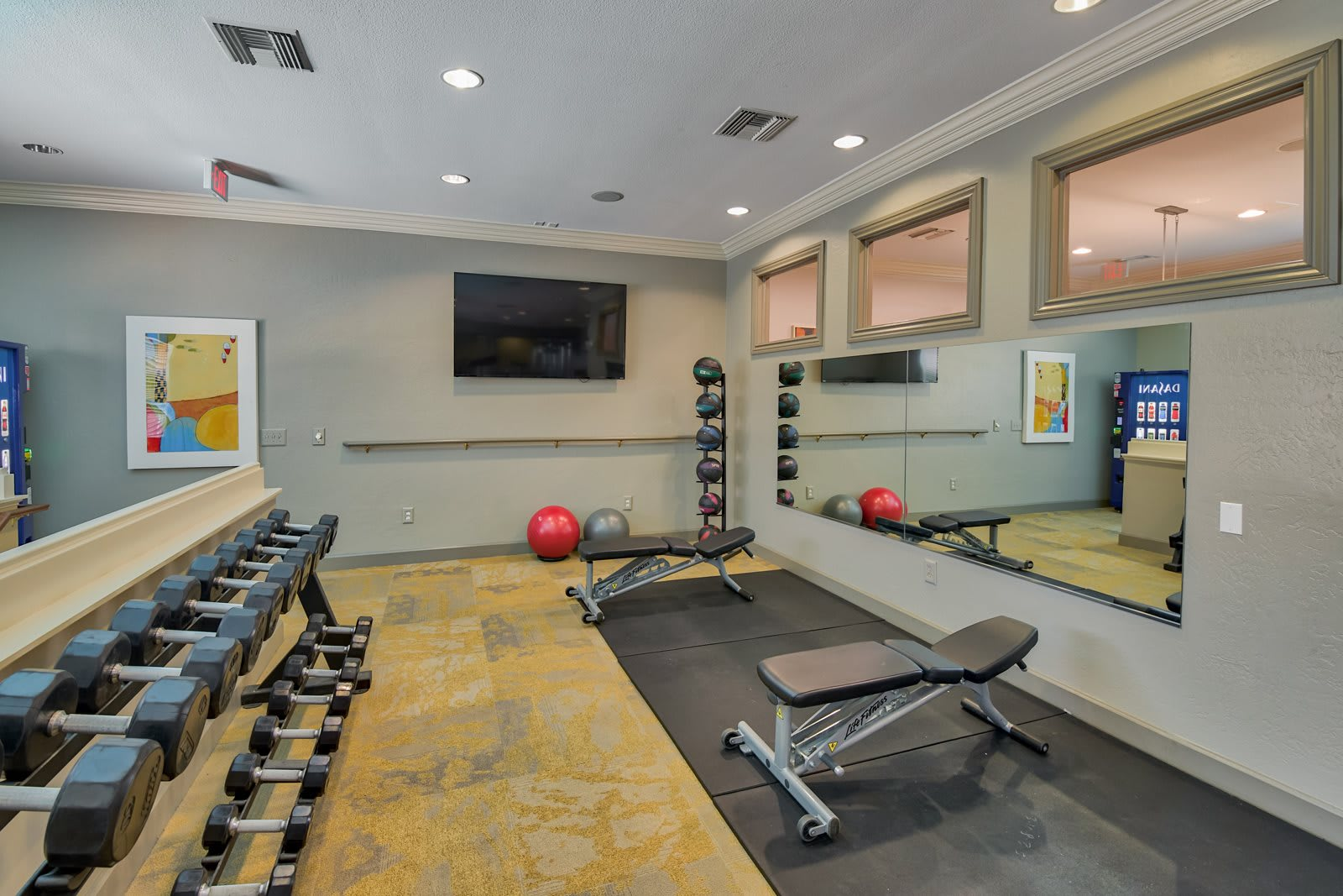 Free Weights, Medicine Balls and Stretching Space at Windsor at Aviara, 92011, California