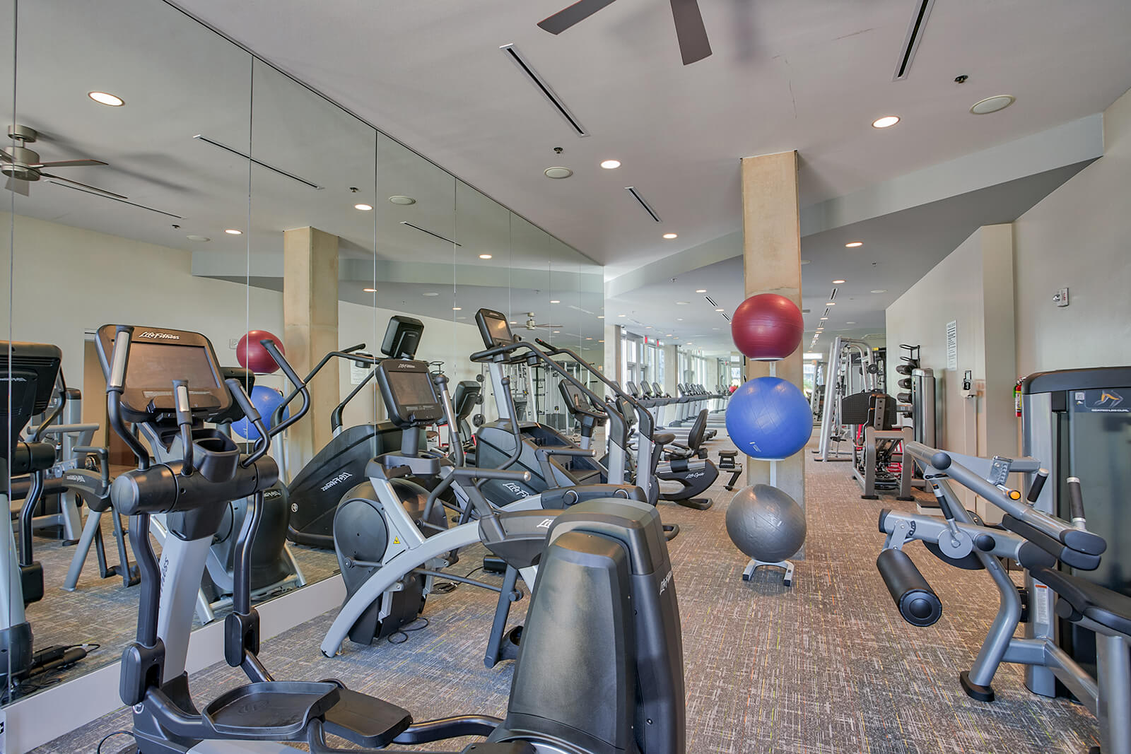 Updated Fitness Center with Brand New Equipment and Synrgy360 System at Glass House by Windsor, 2728 McKinnon Street, Dallas