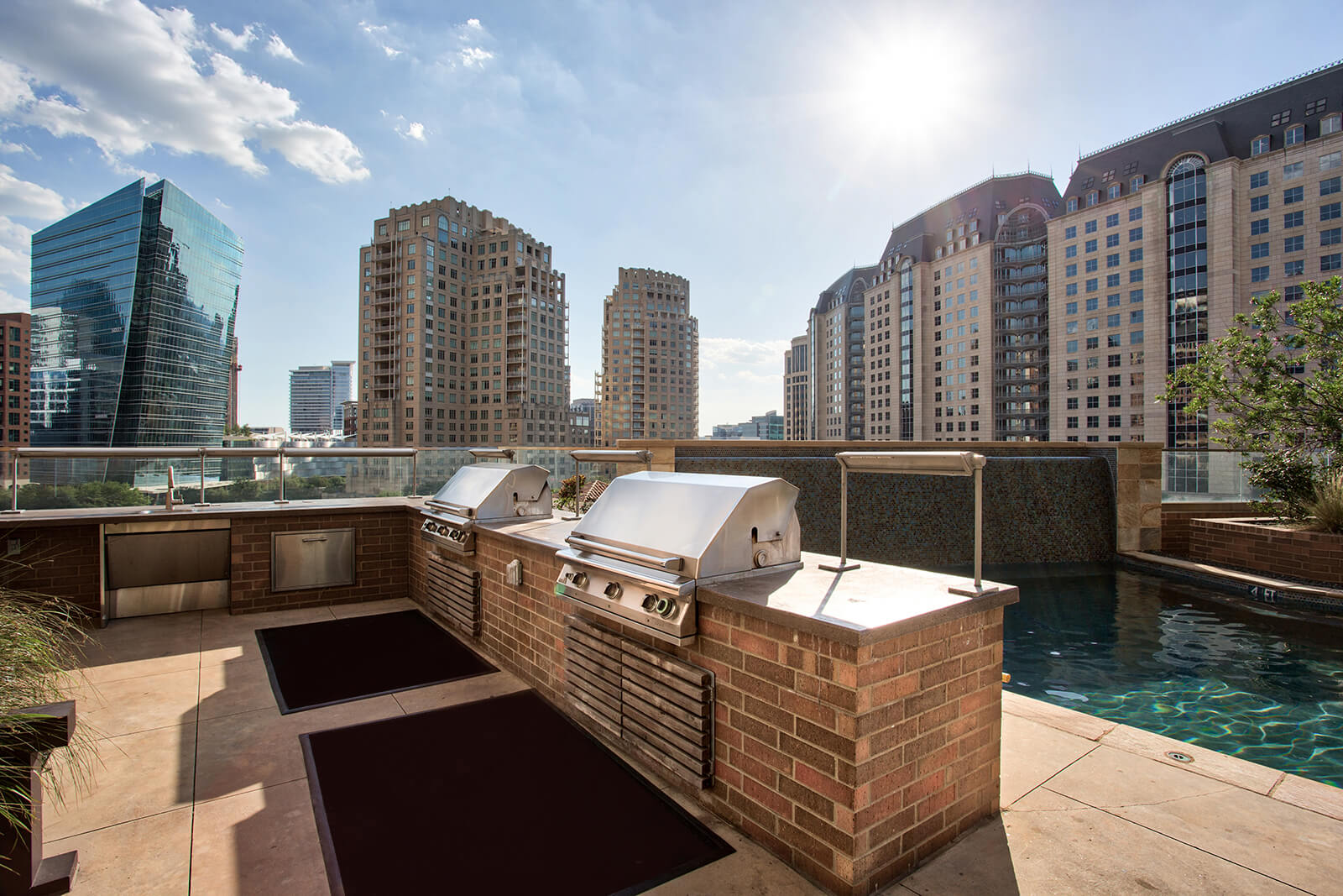 Rooftop Grilling Stations at The Jordan by Windsor, Dallas, Texas