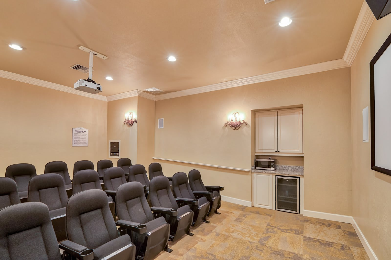 On-Site Movie Theater at Windsor at Aviara, 6610 Ambrosia Lane, CA